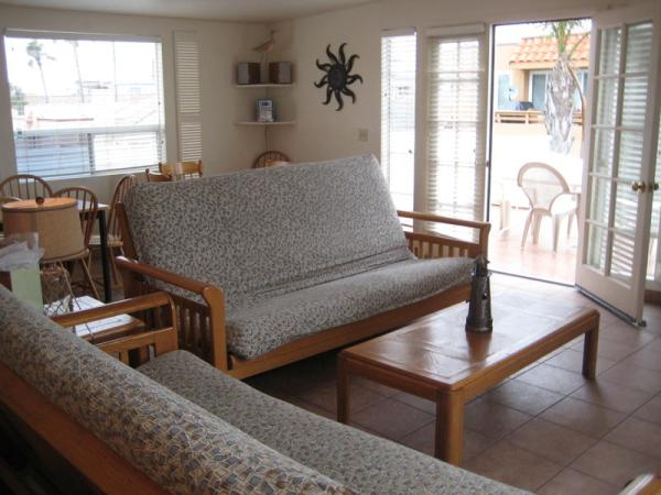 2nd view of living room - 3844 Bayside Lane - Pacific Beach - rentals