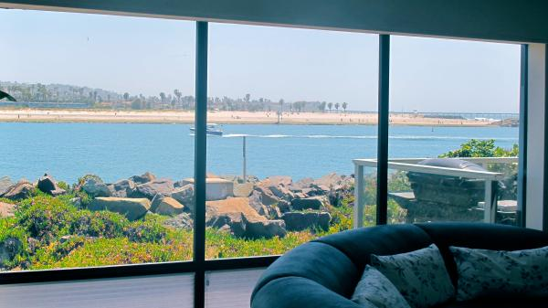 water view off living room - 2595 Oceanfront Walk #3 - Pacific Beach - rentals