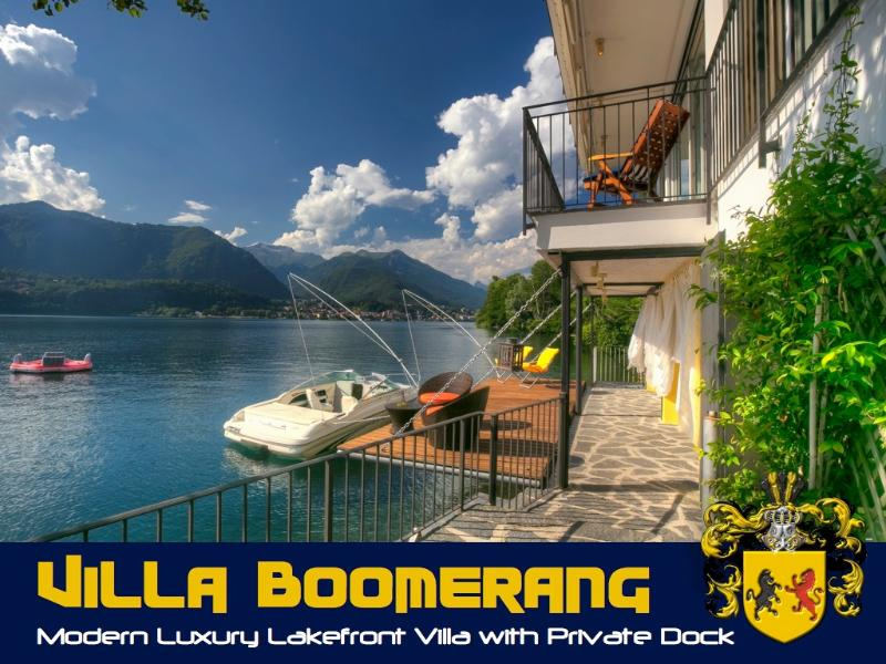 "Villa Boomerang on Lake Orta - Exquisite waterfront Lake Orta Villa ""Boomerang"" - Orta San Giulio - rentals"