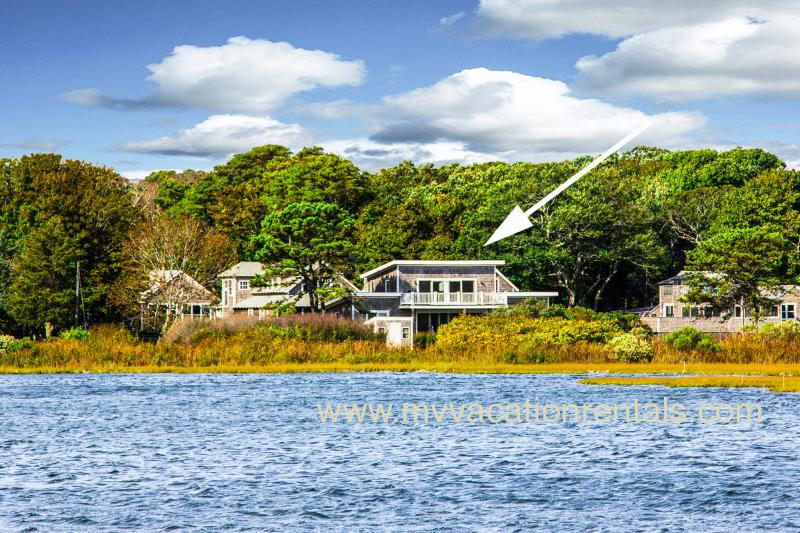 House From Other Side of Farm Pond - STECC - Farm Pond House, Gorgeous Waterviews, 3 Minute Walk to Ink Well Beach - Oak Bluffs - rentals