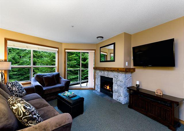 Living Room - Aspens #228, 1 Bdrm, Ski-in Ski-out, Serene Forest View, Free Wifi - United States - rentals