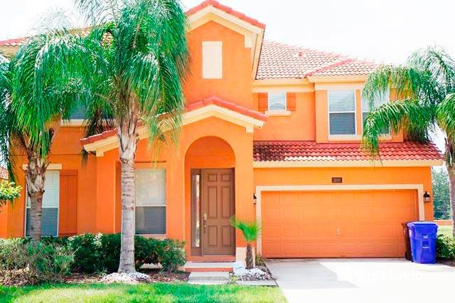 Entrance with front garden - Charming VIP ORLANDO House with private pool and game room- Marcello 6bm03 - Kissimmee - rentals