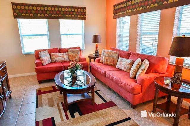 Generous wide living room - Super VIP ORLANDO 4 bedrooms family Villa - Yellow 4em06 - Four Corners - rentals