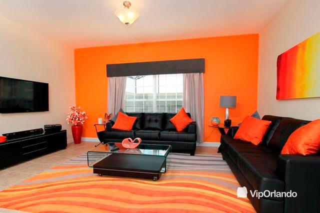 Incredible living room - Excellent VIP ORLANDO Villa ideal for a whole family - Cuban 5gr01 - Four Corners - rentals
