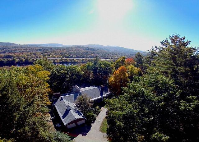 Arial view of property - Beautiful Home in the White Mountains(DOD123M) - Campton - rentals