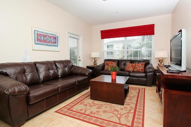 Beautiful living room with LCD TV - Fully Equipped VIP Condo inside safe gated community  - Butterfly 3gr01 - Four Corners - rentals