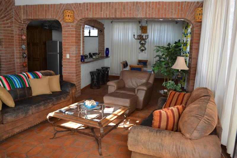 Main living room looking into dining - CASA DE LA PAZ- CASA PAZ - Guanajuato - rentals