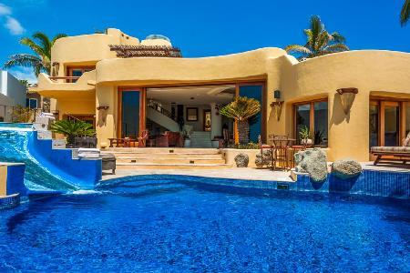 Ocean view Jimmy Page Villa in gated community, infinity pool, steps to beach - Image 1 - Cabo San Lucas - rentals
