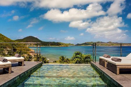 Modern Mirande- memorable sunset ocean view, sleek outdoor lounge with pool - Image 1 - Pointe Milou - rentals