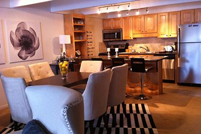 Kitchen and dining area - 2 Bedroom/2 Bath Condo At Chateau Blanc- Unit 9 - Aspen - rentals
