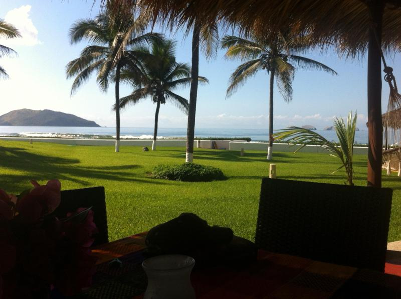 view from the patio table - 1800sf Beachfront villa Playa Blanca Zihuatanejo - Zihuatanejo - rentals
