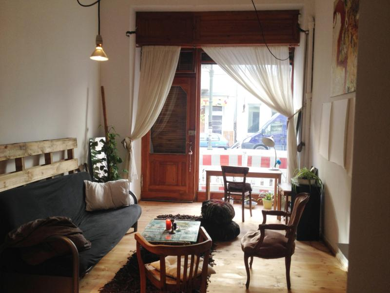 living room with double sleeping couch - cOzy artist flat in Neukölln - - Berlin - rentals