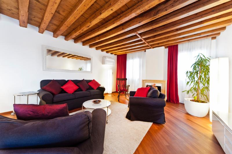 LIVINGROOM, with a huge double sofa bed - CA GIULIA ROOF TERRACE, SAN MARCO HEART - City of Venice - rentals