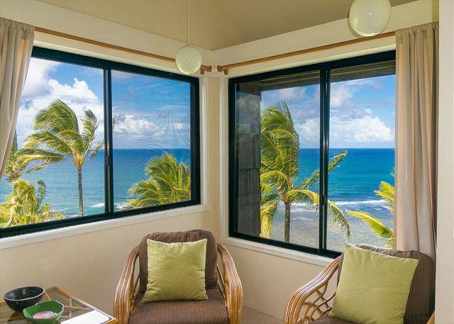Your amazing view! - Sealodge G8: Oceanfront views, top floor. - Princeville - rentals