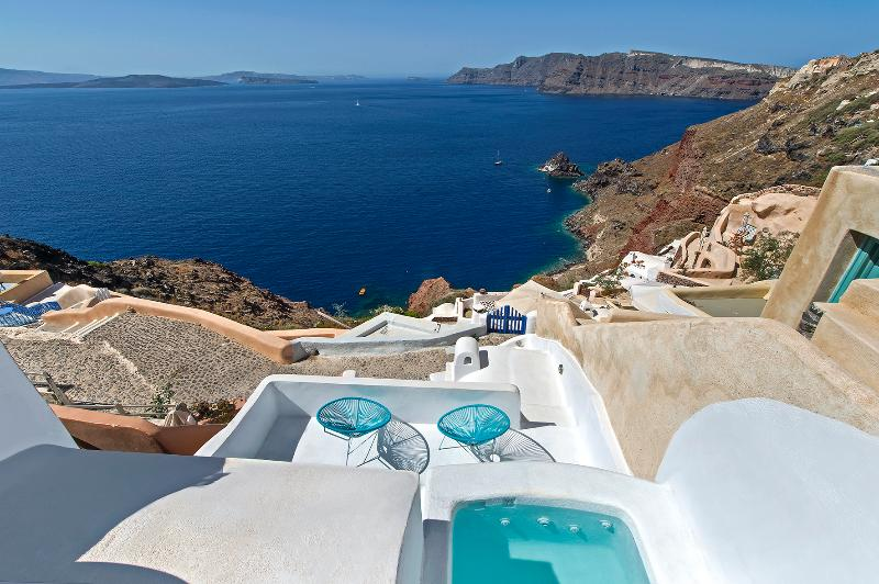 VIEW FROM THE TERRACE - Seacrest Villa - Oia - rentals