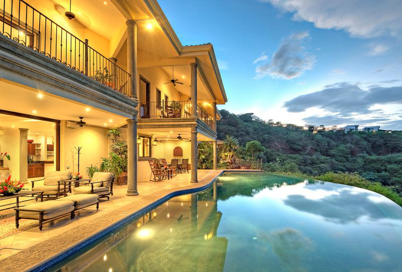 Back of Villa with Infinity Pool - Top Rated  All Inclusive  on TRIP ADIVSOR-Sleeps 20 - Playa Ocotal - rentals