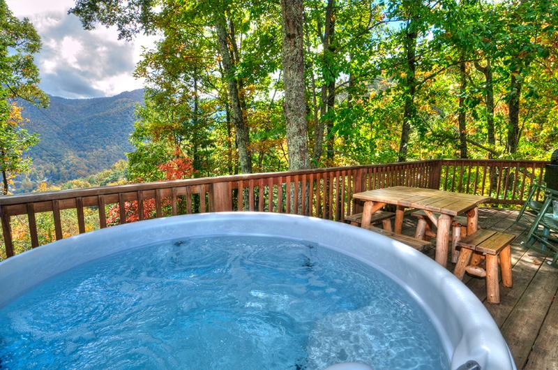 Remember Spring/Summer? Book now for your escape to the Playhouse! Hot Tub 2/2 log sleeps 6 Views! - Cozy,Quaint,Private!Perfect for 2 or party of 6! - Maggie Valley - rentals