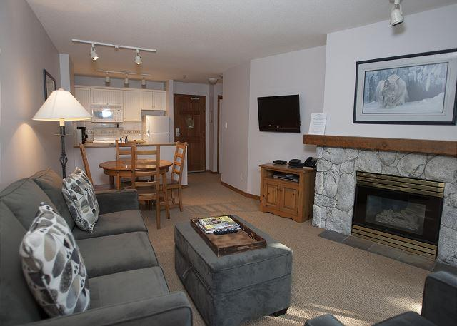 Living Room - Aspens #314, 1 Bdrm, Ski-in Ski-out, Serene Forest View, Free Wifi - United States - rentals