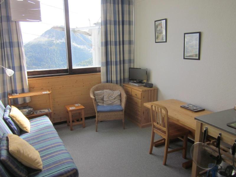 Lounge with panoramic view - La Plagne, Ski Apartment, Aime 2000, WIFI, 30m2 - Aime - rentals