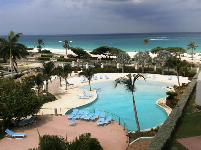 This is your ocean view!! - Glamour View Three-bedroom condo - E422 - Eagle Beach - rentals