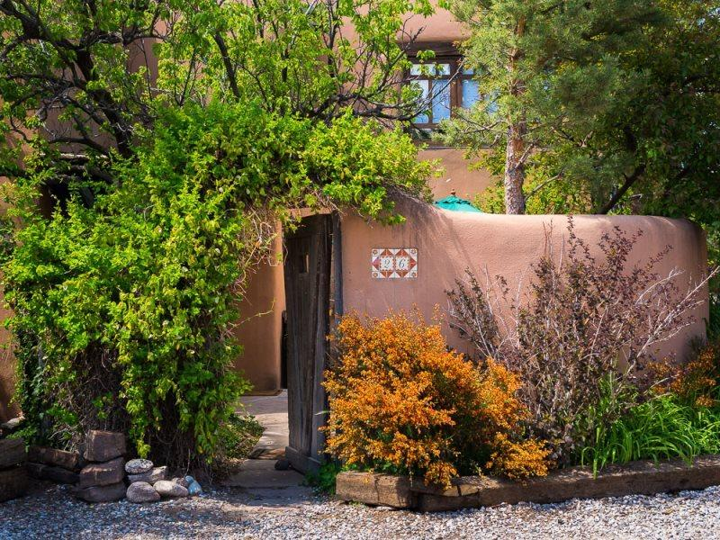 Dream catcher gate to front patio - Dream Catcher - East Side Romantic Adobe. Patios with Views. - Santa Fe - rentals