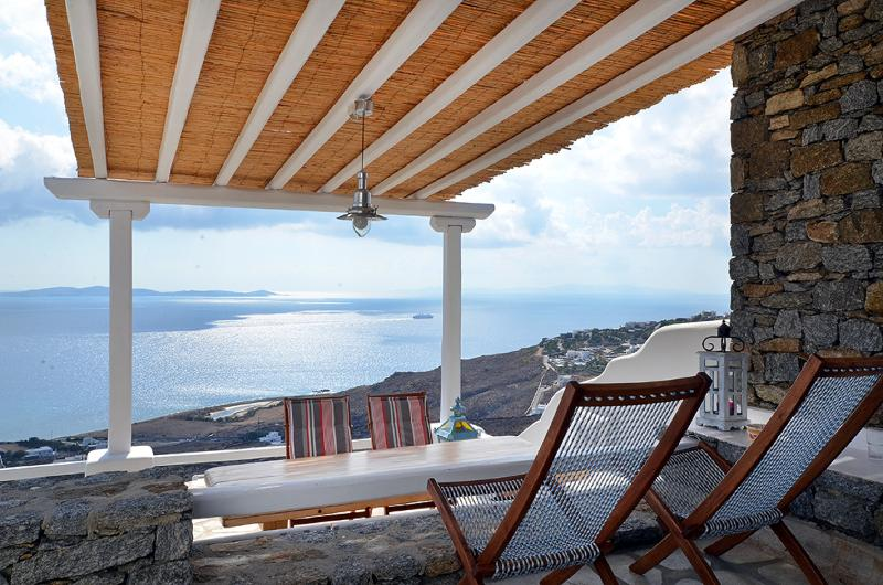 TERRACE VIEW - Villa Kelly  Amazing View  4 people - Mykonos - rentals