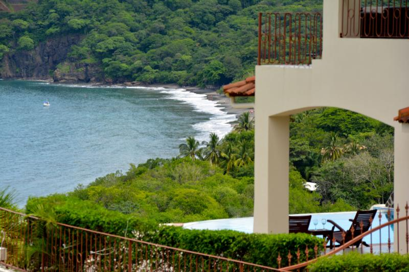 Patio with an expansive view of the beach! - Villa Ted - Playa Hermosa - rentals