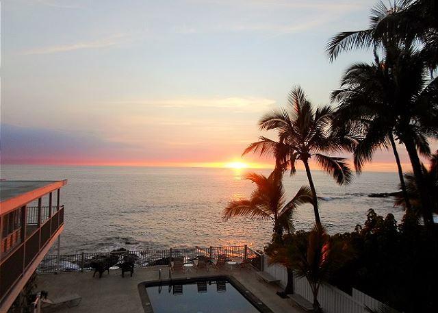 Fantastic Ocean View - One Bedroom Condo at Kona Riviera Villas 203-KRV203 - Image 1 - Kailua-Kona - rentals