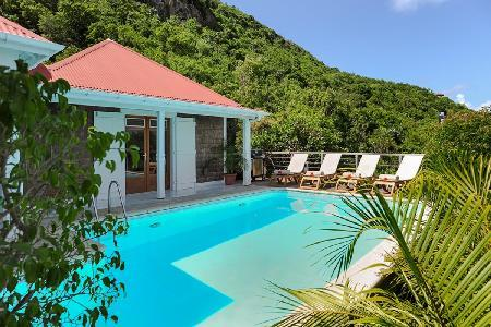 Ocean view villa Anais on Vitet hillside with pool, stunning views & daily maid - Image 1 - Vitet - rentals
