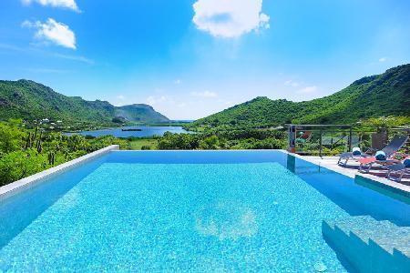 Contemporary Villa Harry boasts valley and sea views, infinity pool & daily maid - Image 1 - Grande Saline - rentals