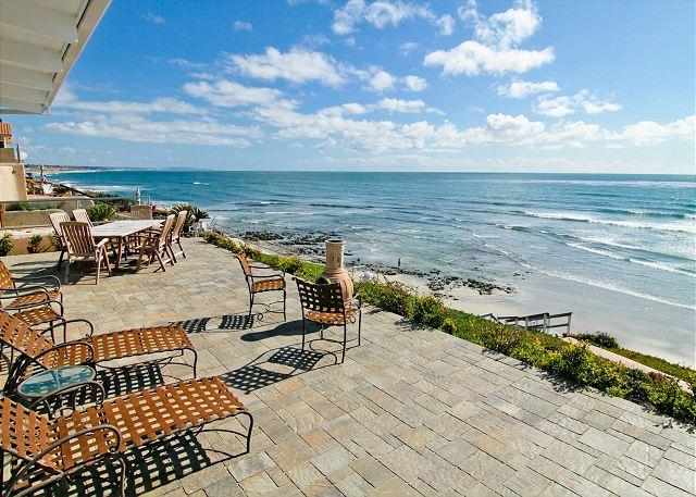 backyard patio with beach views  - Spectacular Single Family Oceanfront Home - C5815-0 - Carlsbad - rentals