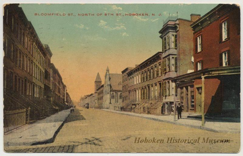 Postcard from early 1900s showing Building (Rightmost) - Hoboken 1BR+Extra Guest BR, PRIME Location - Hoboken - rentals