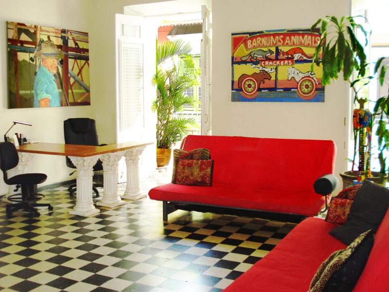 1 Gallery Apartment Living Room West - Old San Juan - Choose 1 or 2 apts, 2bdr/2bth each - San Juan - rentals