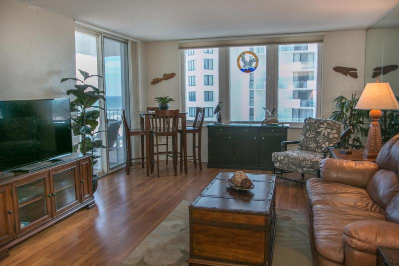 Living Room with Dining Area - April/May $pecials-Oceans3 #502-Ocean / River View - Daytona Beach - rentals