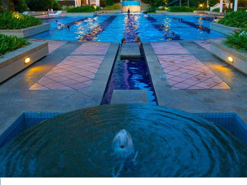 Pool at sunset - Miami Green Resort - Batu Ferringhi - rentals