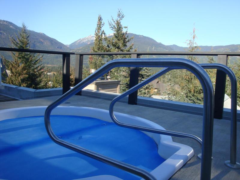 Roof top hot tub with views. Great after a ski day. - Ski-in/out, walk 2 village, free parking, hot tub. - Whistler - rentals