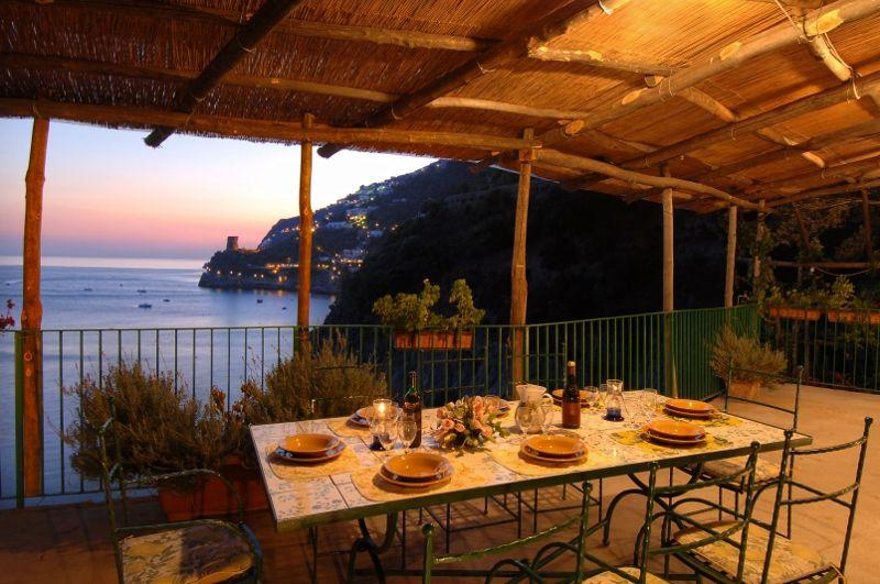 Veranda in front of the sea - Villa Sunset - Praiano - rentals