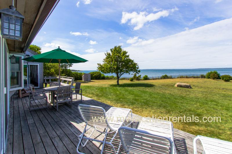 Panoramic Ocean Views, 2 Minute Walk to Beach - ABBON - North Shore Waterfront, Private Beach, Magnificent Views, Wifi, Room A/C - West Tisbury - rentals