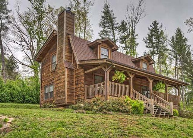 Willow Pond Cabin | Easy Asheville Access | Peaceful Private Getaway w/ Pond - Image 1 - Fairview - rentals