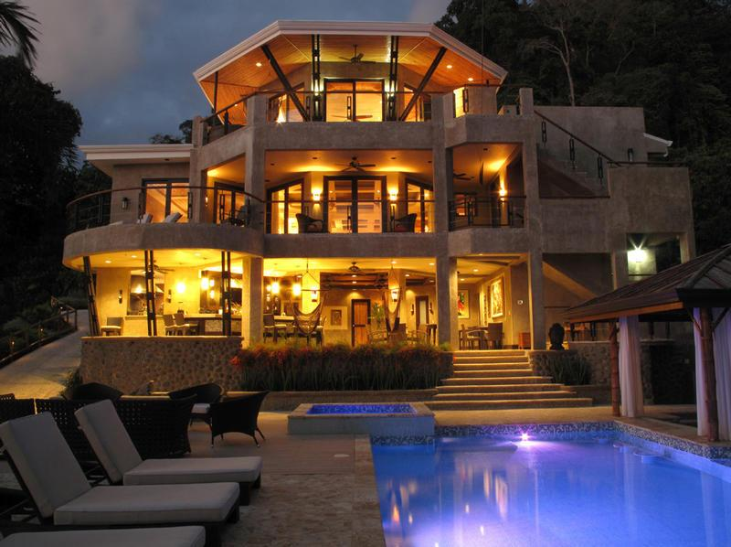 Main house night time - Exclusive Luxury Vacation Villa Costa Rica - Dominical - rentals