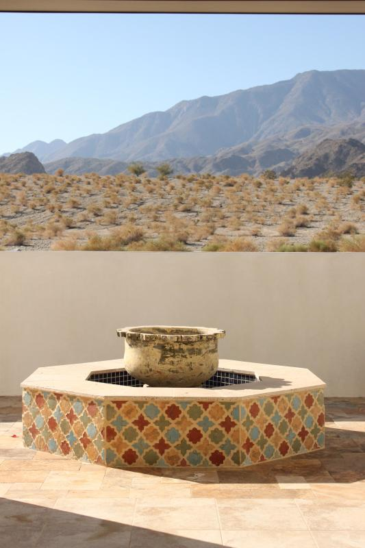 Outstanding Santa Rosa views as seen from the living room - Exquisite Moroccan-Inspired Home with Magnificent - La Quinta - rentals