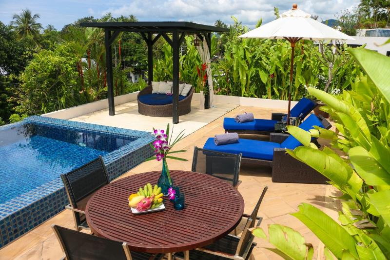 Private Rooftop Terrace With Pool - Kata Gardens Ocean View Penthouse Private Pool Walk To Beach - Kata - rentals