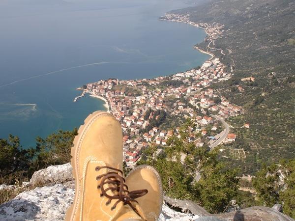 The view from the mountain peak - Studio apartment Mirjana - Gradac - rentals