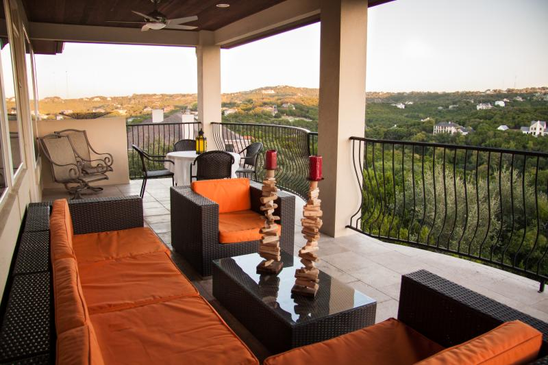 From your private balcony, this gorgeous view of our beloved hill country. - Luxurious Home: Amazing View of the Hill Country - Austin - rentals