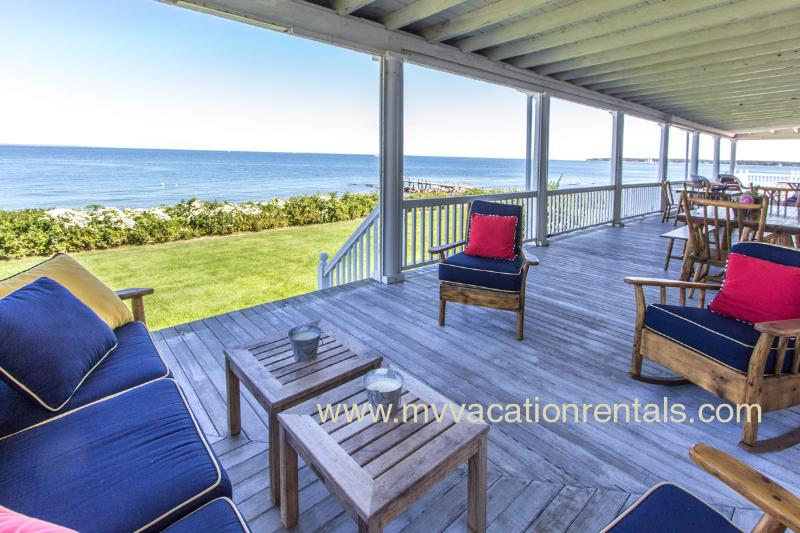 Ocean Front, Wrap Around Porch - REESW - Magnificent West Chop  Waterfront Home , A/C, Wifi - Vineyard Haven - rentals