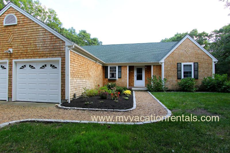 Entry Side of House - MULHT - Large Private Yard and Deck, Bike Paths at end of street - Edgartown - rentals