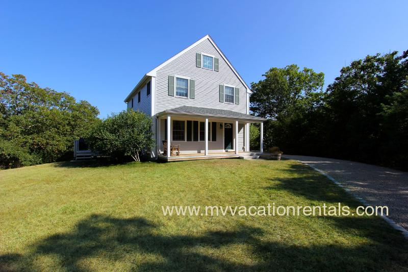 Entry Side of House and Driveway - BALAR - Vineyard Meadow Farms Home, Close to Gorgeous Long Point Beach - West Tisbury - rentals