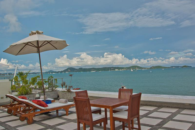 View from roof terrace over Chalong Bay - RAYA - Beachfront Two Bedroom Villa with private pool and sea views - Rawai - rentals