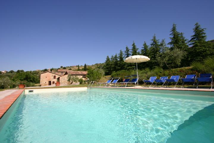 Splendid Villa by Olive Groves and Vinyards at Fontocchio on Cortona - Image 1 - Cortona - rentals