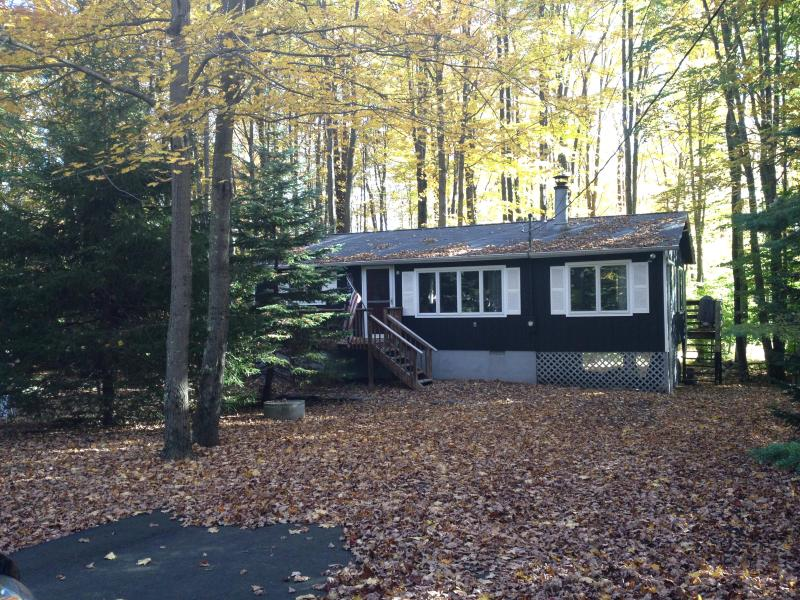 Fall colors surround the cottage - Tranquility Cottage at Arrowhead Lake! Fplc, Fpit - Pocono Lake - rentals
